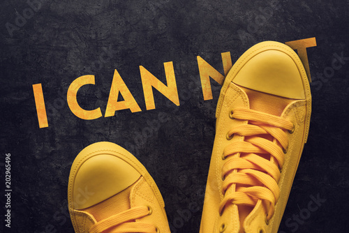 I can not motivational concept Canvas Print