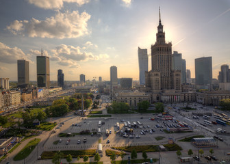 Panorama of the city. Warsaw Poland.