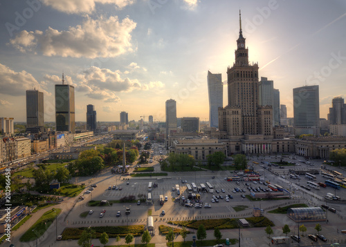 Fototapety, obrazy: Panorama of the city. Warsaw Poland.
