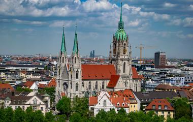 Kirche von Sankt Paul im St.-Pauls-Platz in München