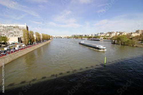 Courbevoie - Pont de Levallois Canvas Print