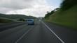 High-speed driver's POV of I-5 south of Roseburg, Oregon