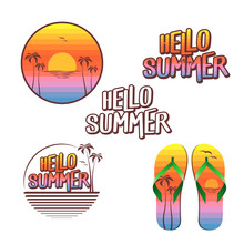 Hello Summer Illustration Set ...