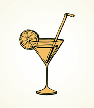 Cocktail. Vector Drawing