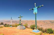 Peru, Three Crosses Sit Next T...