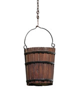 Vintage Wooden Bucket Isolated...