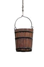 Vintage Wooden Bucket Isolated...