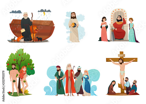 Bible Stories Set Canvas Print