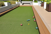 Upscale Bocce Ball Court With ...