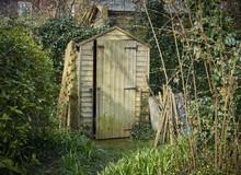 Rustic Back Garden Wooden Shed