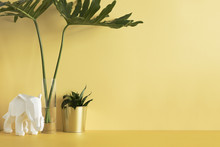 Pastel Yellow Desk With Cop Sp...