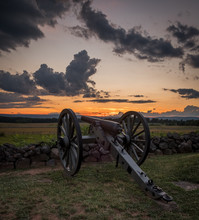 Sunset Above A Civil War Canno...