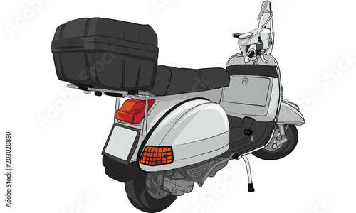scooter vintage hand drawing motorcycle illustration icon motor background white vector vespa isolated draw symbol old retro line transport art black graphic travel transportati buy this stock vector and explore similar scooter vintage hand drawing