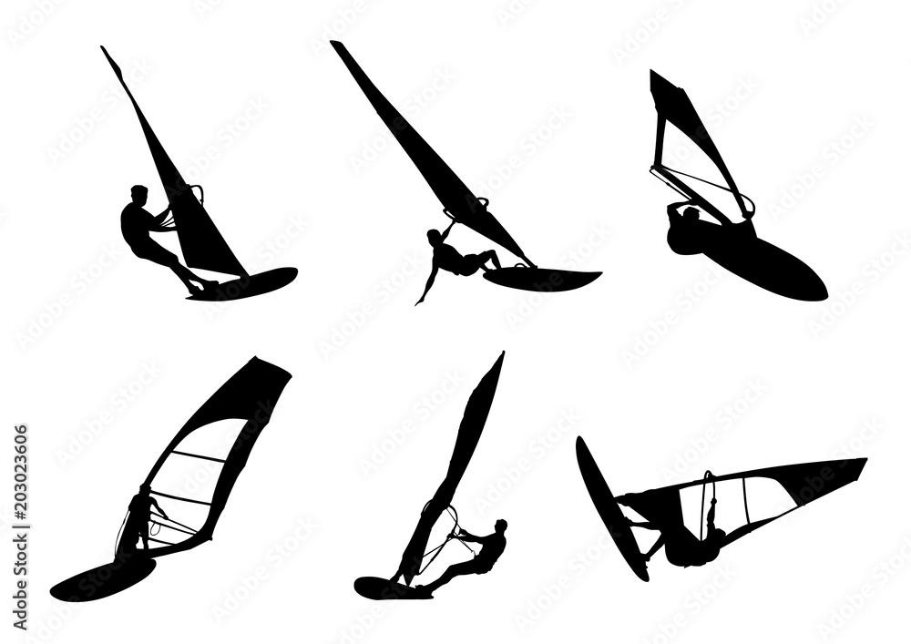 Fotografía Windsurfing Silhouette Europosterses