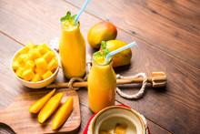 Mango Lassi Or Smoothie In Big...