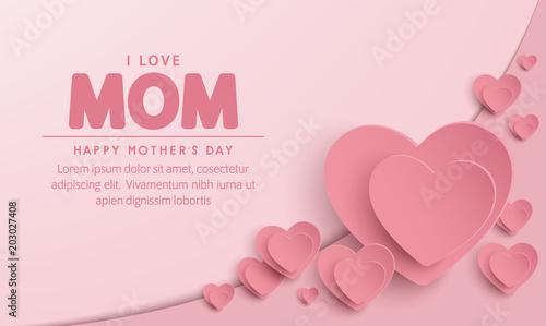 Fotomural happy mother's day banner vector design