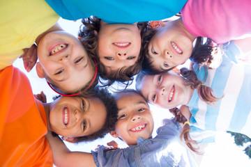 Little children smiling at camera