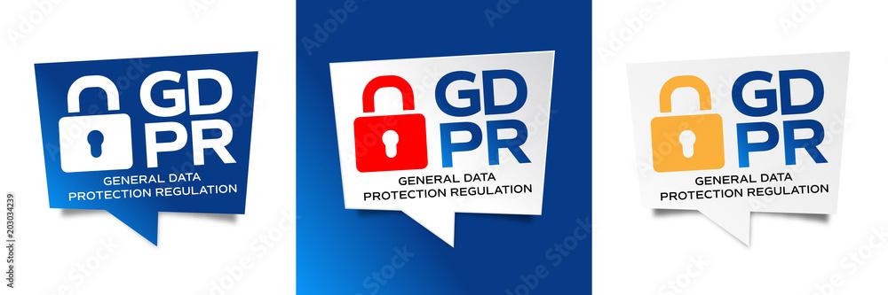 Fototapeta GDPR / General Data Protection Regulation