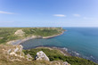 Distant views looking along the Jurassic Coast in Dorset