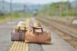 新緑のステーション・鉄道の旅