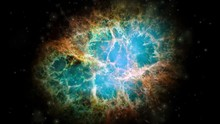 Crab Nebula Galaxy Animation. ...