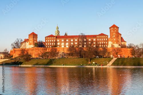 Fototapety, obrazy: Wawel hill with royal castle in Krakow