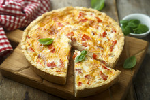 Savory Pie With Cheese, Bacon ...