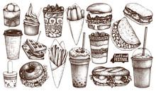 Street Food Festival Menu. Vin...