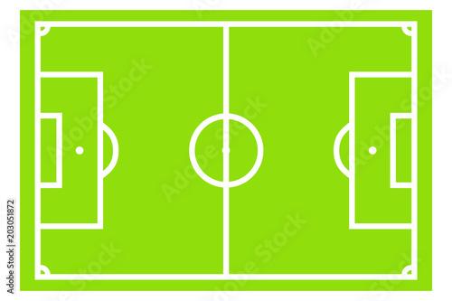 Obraz Leeres Fußballfeld - Illustration - fototapety do salonu