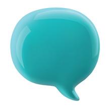 Glossy Speech Bubble Vector Illustration