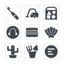 Premium Fill Icons Set On White Background . Such As Child, Desert, Bear, Dental, Floor, Shell, Sand, Mobile, Teddy, Seashell, Duck, Paste, Cactus, Toothbrush, Housework, Carpet, Car, Green, Home, Toy