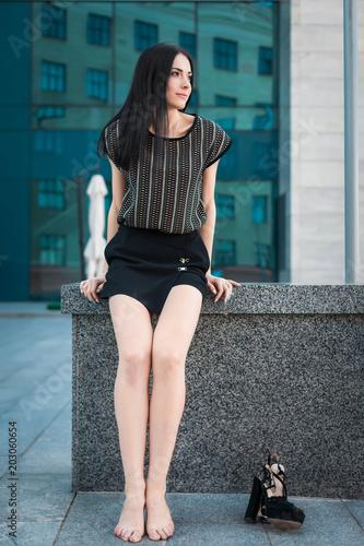 431d57b56ed238 portrait of trendy teenager with long brunette hair