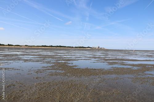 Spoed Foto op Canvas Noordzee Im Watt der Nordsee vor Cuxhaven