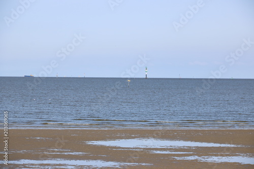 Spoed Foto op Canvas Noordzee Nordsee bei kommender Flut im Watt