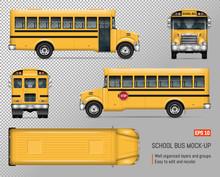 School Bus Vector Mock-up. Iso...
