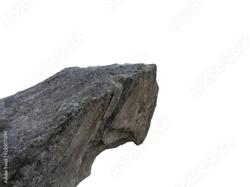 Fotografía Cliff stone isolated on white background.