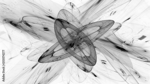 Blue glowing magical quantum in space Wallpaper Mural