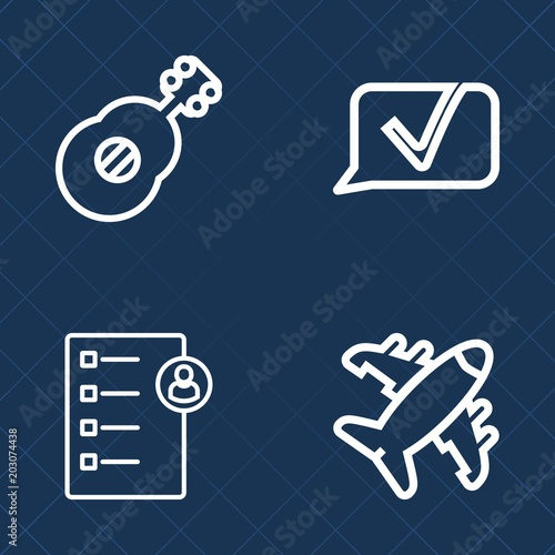 Premium set of outline vector icons  Such as web, concert, musician