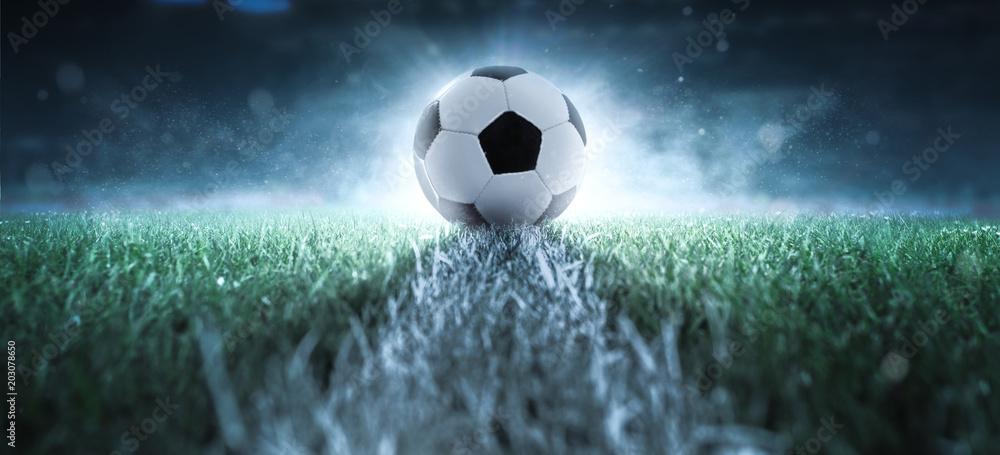 Fototapety, obrazy: Anstoß - Fußball - Spielfeld