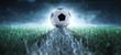 canvas print picture - Anstoß - Fußball - Spielfeld