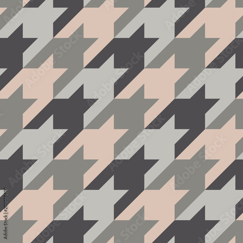 Photo  Seamless surface pattern with houndstooth ornament