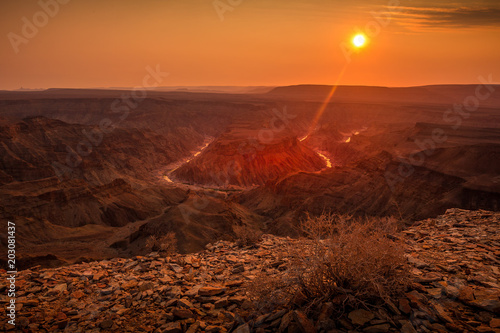 Spoed Foto op Canvas Oranje eclat Fish River Canyon