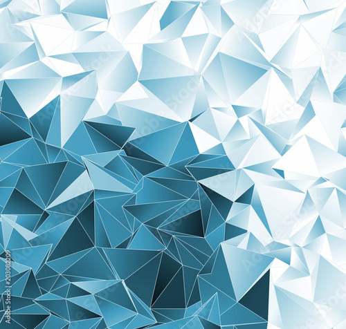 Foto op Aluminium ZigZag Abstract background. mosaic triangulated texture