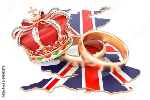 Foto  Royal wedding concept