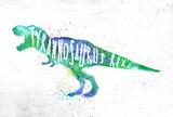 Fototapeta Dinusie - Dynosaur tyranosaurus vivid
