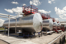 Tanks For Petroleum Products At The Oil Refinery