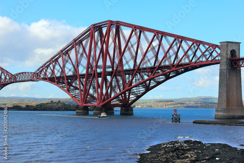 In de dag Brug forth railway bridge in scotland