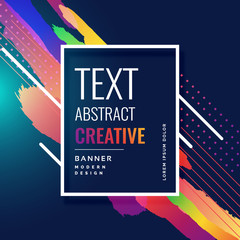 colorful stroke abstract dark banner