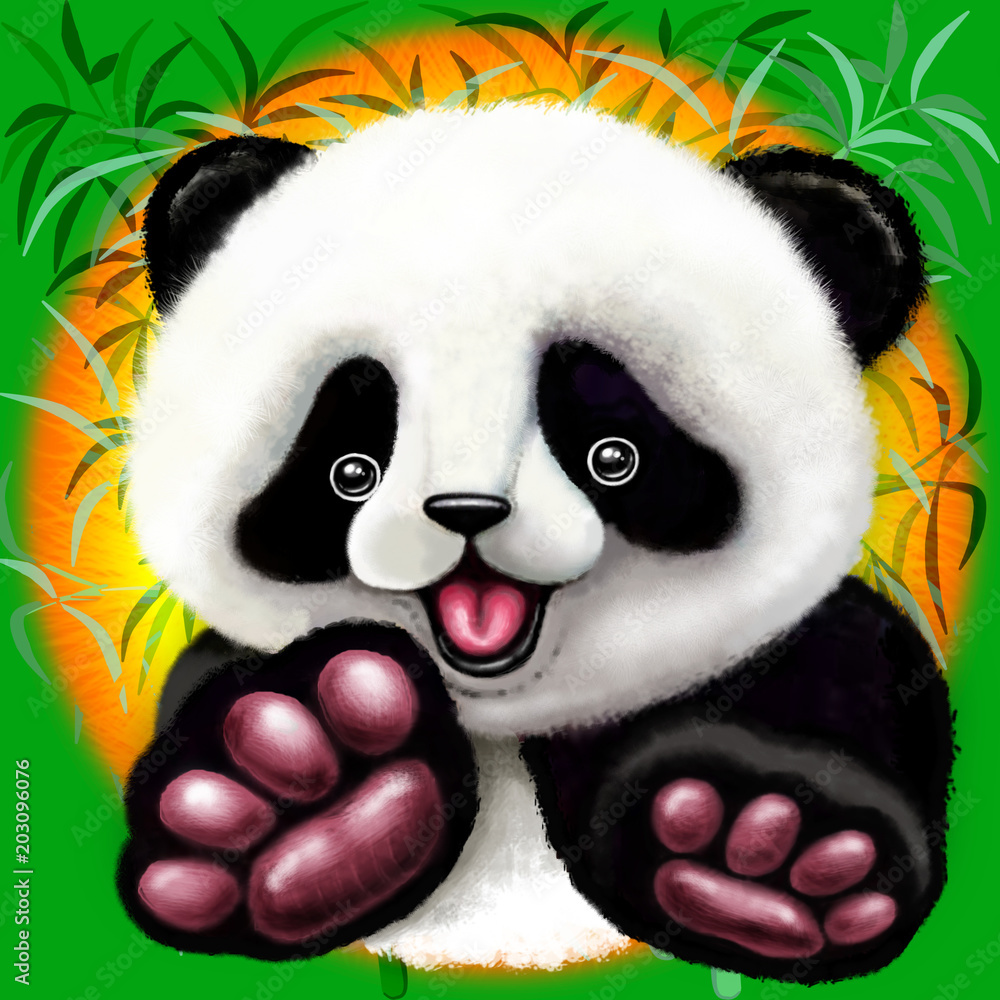 Panda Baby Bear Cute and Happy