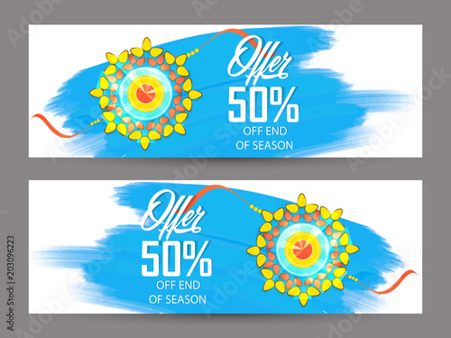 Fotografering  nice and beautiful sale abstract or poster for Raksha Bandhan with nice and creative design illustration